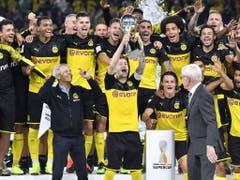 Borussia Dortmund will die Dominanz von Bayern München beenden und auch am Ende der Saison jubeln (Bild: KEYSTONE/AP/MARTIN MEISSNER)