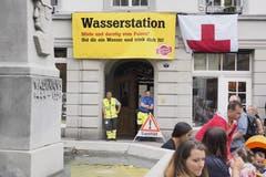 Beim Amtshaus an der Marktgasse. (Bild: Hanspeter Schiess - 17. August 2019)