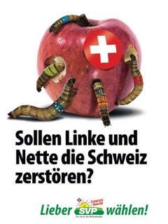 Das Wurm-Plakat für den Wahlkampf 2019. (Bild: SVP)