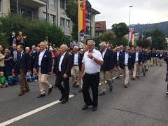 Das Fest-Ok mit Bundespräsident Ueli Maurer inklusive Delegation und Ehrenmitgliedern.