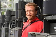 Der Mann hinter der Bühne: Produktionsleiter Stefan Breitenmoser.