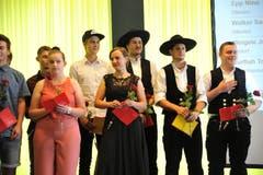 Einige Zimmermänner erschienen in ihrer typischen Berufskluft. (Bild: Urs Hanhart, Altdorf, 24. August 2019)