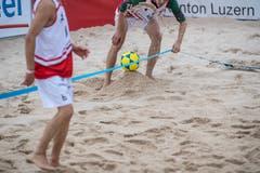 Eine Linie am Boden wie beim Volleyball (Bild: Nadia Schärli, Kriens, 23. August 2019)