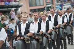 Mit einem Einzug wurde Wicki gefeiert. (Bild: Pius Amrein, Sörenberg, 27. August 2019)