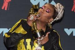 Missy Elliott. Halsey. (Bild: DJ Johnson/EPA, Newark, 26. August 2019)