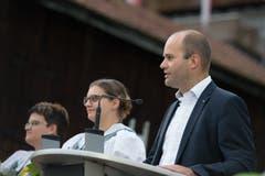 Regierungsrat Fabian Peter liess sich den Anlass nicht entgehen. (Bild: Pius Amrein, Sörenberg, 27. August 2019)