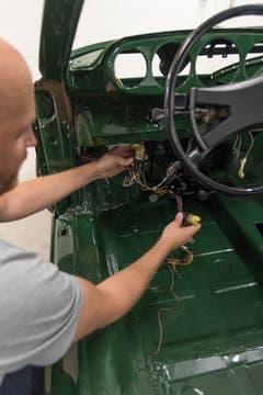 Philippe Weder restauriert einen 912 Porsche. (Bilder: Lisa Jenny)