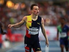 Karsten Warholm, ein Norweger, sorgte für die Topleistung des Abends: zweitschnellste je gelaufene Zeit und Europarekord über 400 m Hürden. (Bild: KEYSTONE/EPA/CHRISTOPHE PETIT TESSON)