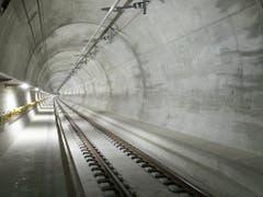 Mit der Fertigstellung des Ceneri-Basistunnels ist das Jahrhundertprojekt Neue Eisenbahn-Alpentransversale (Neat) vollendet. (Bild: KEYSTONE/GAETAN BALLY)