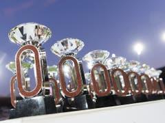 Um diese «Diamanten» ging es in Zürich in 16 Disziplinen, die nächsten 16 Sieger der Diamond-League in den übrigen Disziplinen werden am Freitag, 6. September in Brüssel vergeben. (Bild: KEYSTONE/JEAN-CHRISTOPHE BOTT)