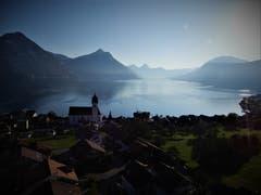 «Morgenstund hat nicht nur Gold im Mund.»Unvergesslich bleibt so eine wunderschöne Aussicht in den frühen Morgenstunden auf der Bergfahrt zur Klewenalp. (Bild: Margrith Imhof-Röthlin, 30. August 2019)