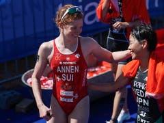Jolanda Annen (links) will am Grand Final der WM-Serie in Lausanne überzeugen (Bild: KEYSTONE/EPA/NIC BOTHMA)