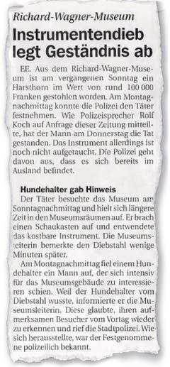 Die Luzerner Zeitung vom 24. November 2001. Noch ist die wirkliche Tragweite des Falls nicht bekannt.