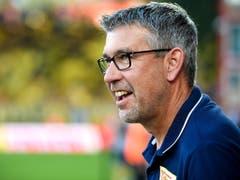 Urs Fischer entschied das Trainer-Duell gegen Lucien Favre für sich (Bild: KEYSTONE/EPA/SASCHA STEINBACH)
