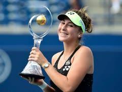 Belinda Bencic gewann 2015 das Turnier von Toronto im Final gegen Simona Halep (Bild: KEYSTONE/AP CP/FRANK GUNN)