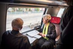 Der Thurgauer Festchor ist auch im Zug. (Bild: Andrea Stalder)