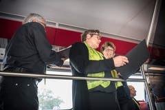Der Thurgauer Festchor bei der Probe im Zug. (Bild: Andrea Stalder)
