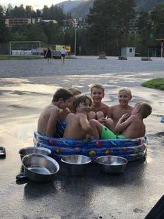 Wozu in die Badi? In diesem Pool scheint's genug Platz für alle zu haben. (Bild: Sommerlager Stadt Kriens, Scuol, 6. August 2019)