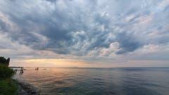 Vor dem nächtlichen Sturm in Horn. (Bild: Daniel Meuli)