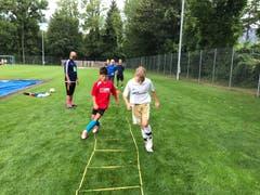 Hier werden Schnelligkeit und Geschicklichkeit auf die Probe gestellt. (Bild: FC Buttisholz, Bad Ragaz, 7. August 2019)