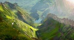 Nach dem Regen scheint die Sonne. Nach den Gewitterfronten und Regengüsse folgte der Sonnenschein auch im Alpstein wieder. (Bild: Nicolas Giovanettoni)