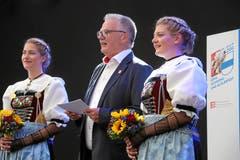 Weitere Impressionen von der Eröffnung des ESAF-Gabentempels zwei Wochen vor dem offiziellen Start. (Bild: Swiss-Image, Zug, 9. August 2019)