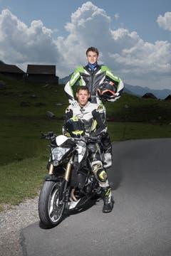 René (32) und Tiziano (16) aus Waldkirch SG. (Bild: Benjamin Manser)