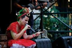 Little Chevy – von Kopf bis Fuss in Polka Dots. (Bild: Stefan Kaiser, 30. August 2019)