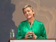 Die Liberale Margrethe Vestager, die sich wie Timmermans bei der Europawahl selbst um die Spitze der EU-Kommission beworben hatte, ist künftig für Digitales verantwortlich. (Bild: KEYSTONE/EPA/HAYOUNG JEON)