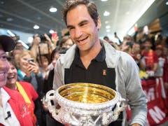 Roger Federers letzter Grand-Slam-Titel, am Australian Open 2018, liegt schon eineinhalb Jahre zurück (Bild: KEYSTONE/ENNIO LEANZA)