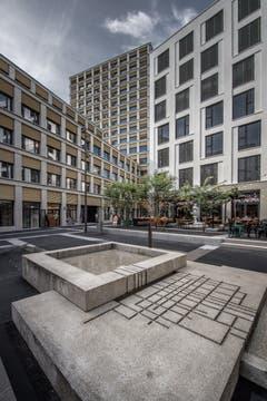 Der Brunnen auf dem Quartierplatz. (Bild: Pius Amrein, Kriens 10. September 2019)