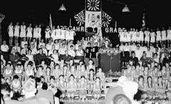Die Aktivsektion des Turnvereins Grabs 1959.