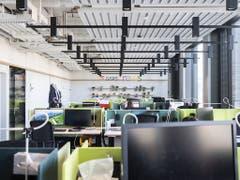 Im neuen Hauptgebäude von Google Schweiz an der Europaallee in Zürich hat es Platz für rund 400 Angestellte. (Bild: KEYSTONE/ENNIO LEANZA)