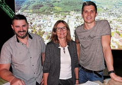 Norbert Ebneter (links) und Michiel Twiss stellten sich beim Talk den Fragen von Jeanette Mösli.