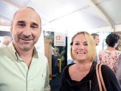 Willi Heeb und Judith Heeb aus Sax: «Gmoand Sennwald isch die bescht!» (Bilder: Hansruedi Rohrer)