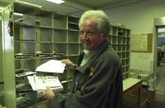 Otto Wallimann im Jahr seiner Pensionierung. (Bild: Josef Reinhard, 29. März 2003)