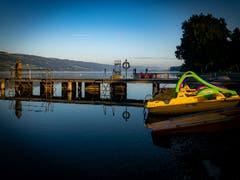 Der Sommer ist zu Ende – nun übernehmen die Fischer die Badi! (Bild: Stefan Kunz, Baldeggersee, 12. September 2019)