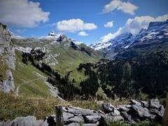 Die Engstlenalp, das Etappenziel ! Aufgenommen auf der Wanderung von der Tannalp zur Engstlenalp. (Bild: Margrith Imhof-Röthlin, 11. September 2019)