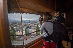 Vom Dächliturm aus geniesst man einen weiten Ausblick über die Stadt. (Bild: Eveline Beerkircher, Luzern, 14. September 2019)