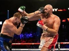 Fury musste sich seinen 29. Sieg im 30. Kampf allerdings hart erarbeiten (Bild: KEYSTONE/EPA/ETIENNE LAURENT)