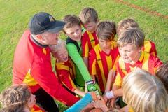 Eingeschworenes Team: Die Junioren des FC Wabern. (Bild: Claudio de Capitani)