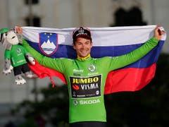 Der Slowene Primoz Roglic gewann auch das grüne Trikot, respektive die Punktewertung (Bild: KEYSTONE/AP/MANU FERNANDEZ)