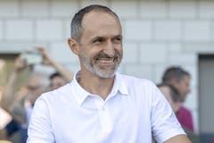 Luzerns Trainer Thomas Häberli. Bild: Keystone/Urs Flüeler (Wohlen, 15. September 2019)