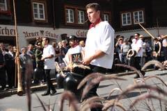 Die Tryychlergruppe Gersau sorgte für ein ohrenbetäubendes Konzert. (Bild: Urs Hanhart, 14. September 2019)