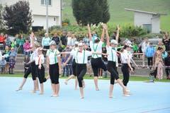 Die Gymnastikriege des STV Bütschwil (Trainerin Carina Höller). (Bild: Beat Lanzendorfer)