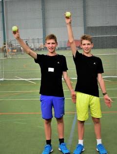 Gelungener Trainingstag für Joel (links) und Cyril Kunz aus Auenstein AG (Bild: Alessandro Crippa)