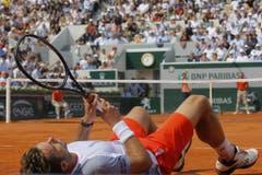 2019: Viertelfinal French Open: Federer s. Wawrinka 7:6 (7:4), 4:6, 7:6 (7:5), 6:4Wieder liegt Stan Wawrinka auf dem Rücken beziehungsweise wieder einmal hat er gegen Roger Federer das Nachsehen. Im achten Grand-Slam-Duell verliert er zum siebten Mal. Für Federer ist danach im Halbfinal gegen Rafael Nadal Schluss.