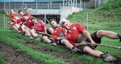 Vorbereitung auf die EM: gemeinsames Training des Schweizer Mixed-Nationalteams. (Bild: Manuela Jans-Koch (Stans, 29. August 2019))