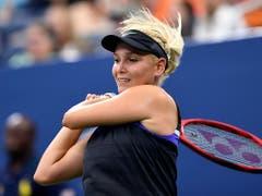 Donna Vekic, die Viertelfinal-Gegnerin von Belinda Bencic. (Bild: KEYSTONE/FR171690 AP/SARAH STIER)