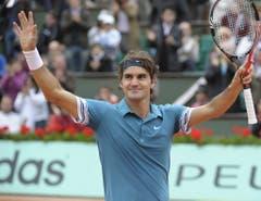 2010: Achtelfinal French Open: Federer s. Wawrinka 6:3, 7:6 (7:5), 6:2Das erste Duell zwischen den beiden Schweizern auf Stufe Grand Slam geht in Paris klar und deutlich in drei Sätzen an Roger Federer. Eine Runde später unterlag er allerdings Robin Söderling und konnte seinen Titel aus dem Vorjahr nicht verteidigen. (Bild: Keystone)